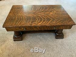 Tiger Oak Quarter Sawn Coffee Table Stunning Top