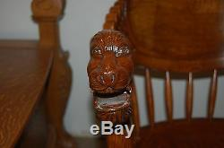 Tiger Oak Rocking Chair