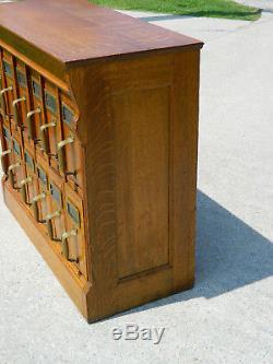 Tiger Oak Yaeman & Erbe 12 Drawer File Cabinet