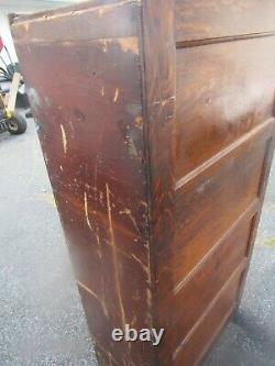 Unusual tiger oak file cabinet 5 drawer stack office catalog original surface
