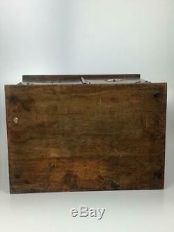 Victorian Stationary Cabinet Tiger Oak Wood