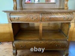 Victorian Tiger Sawn Oak Sideboard Buffet