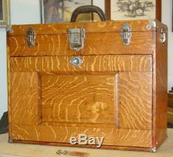 Vintage 11 Drawer GERSTNER Quartersawn Tiger Oak Chest, 20 inch, Restored