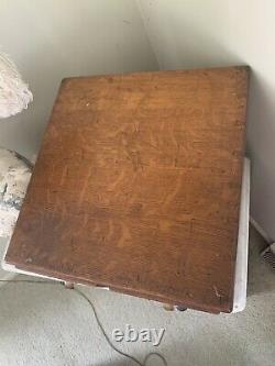 Vintage 4 Drawer Library Bureau Tiger Oak Index Card File