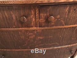 Vintage Antique Tiger Oak Dresser Michigan Furniture Co