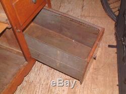 Vintage Golden Tiger Oak, 1905 Hoosier Cabinet Flour Sifter Slide Baking Surface