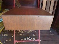 Vintage Tiger Oak 2 Drawer Wood Library Index Card Filing Cabinet