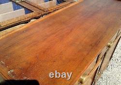 Vintage Tiger Oak 2 Piece Step Back Flat Wall Cupboard 1950s Era Antique Style