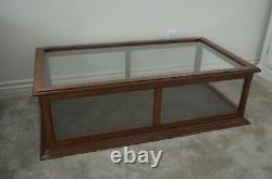 Vintage Tiger Oak Display Case Showcase Cabinet Will Deliver To Shipper! Amazing