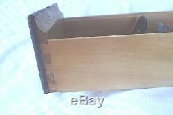 Vintage Tiger Oak Wood Wooden 2 Drawer Library Index Card File Cabinet