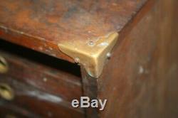 Vintage Wood Machinist Chest Tiger Oak Antique 6 Drawer Tool Chest