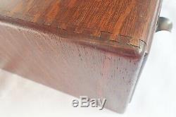 Vintage Yawman Erbe Tiger Oak Wood Wooden 2 Drawer Library Card File Cabinet