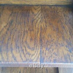 Vtg American Tiger Oak Revolving Rotating Bookcase Circa 1900's Los Angeles Area