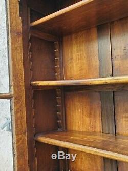 Vtg French Country Carved Tiger Oak Secretary Desk Bureau Drop Front LA Area