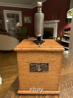 Working Antique Midland Jump Spark Cigar Lighter Tiger Oak its A Wonderful Life